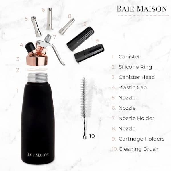 4 Baie Maison Cream Whipper Features 600