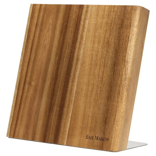 Magnetic Knife Holder Block Wood Acacia 1