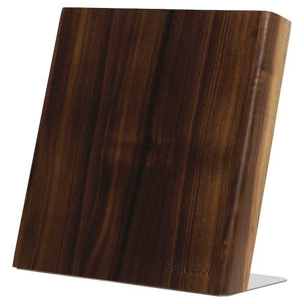 Magnetic Knife Holder Block Wood Walnut 1