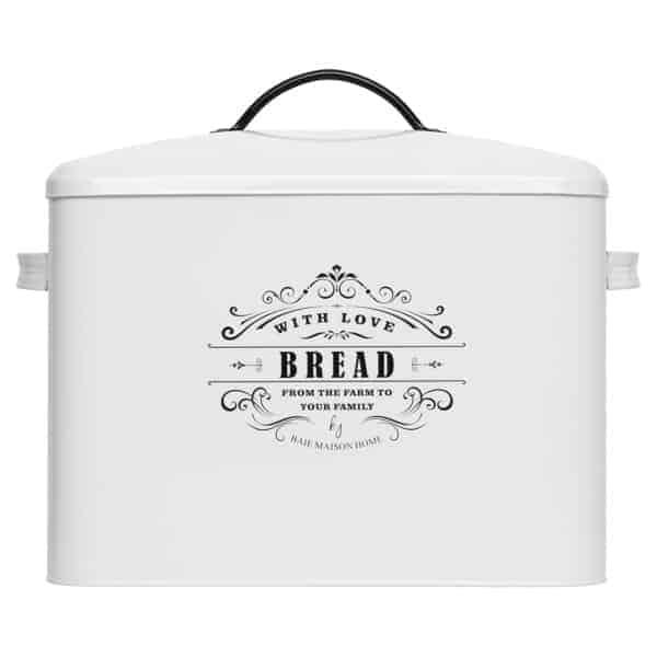 Provence Large Farmhouse Bread Box White 1