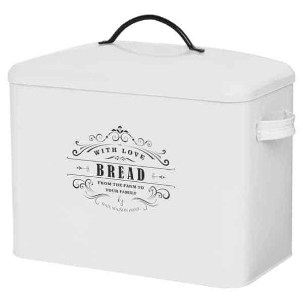 Provence Large Farmhouse Bread Box White 2
