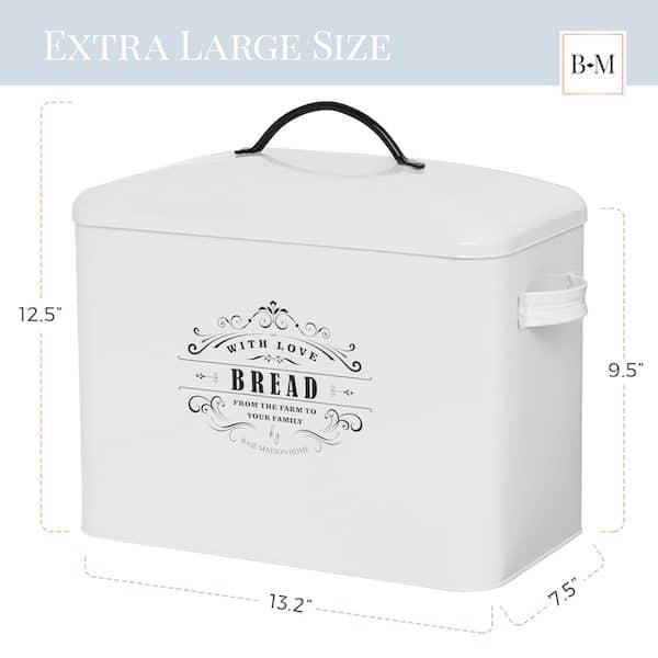 Provence Large Farmhouse Bread Box White 3