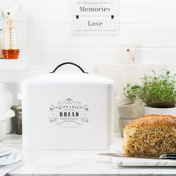 Provence Large Farmhouse Bread Box White 7