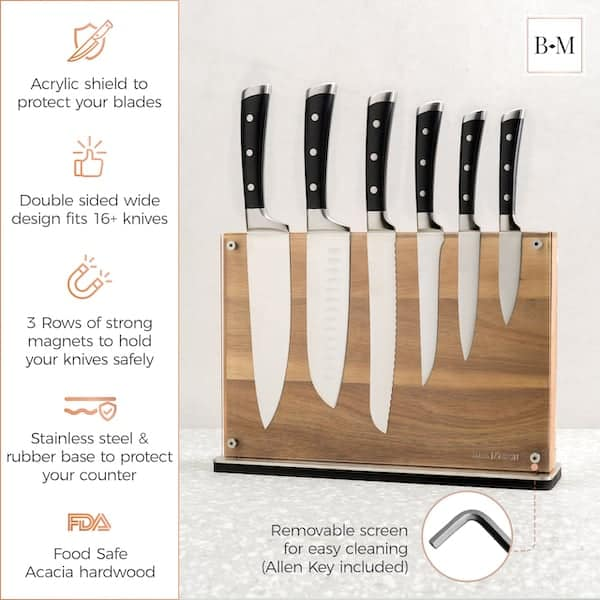 Manhattan Magnetic Knife Holder Block Double Sided 6