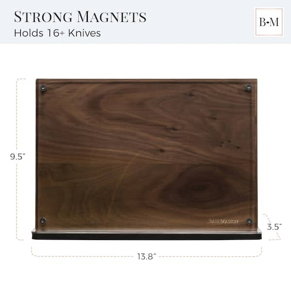 Manhattan Magnetic Knife Holder Block Double Sided Walnut 4