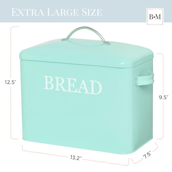 Pennsylvania Large Farmhouse Bread Box Turquoise 3