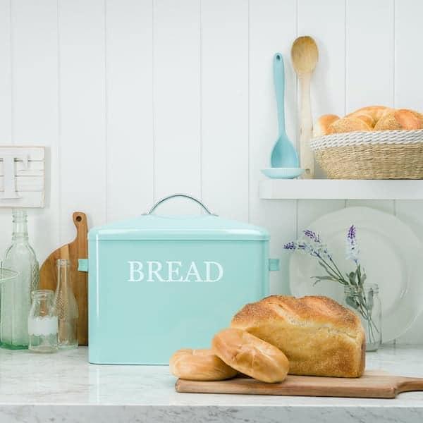 Pennsylvania Large Farmhouse Bread Box Turquoise 6