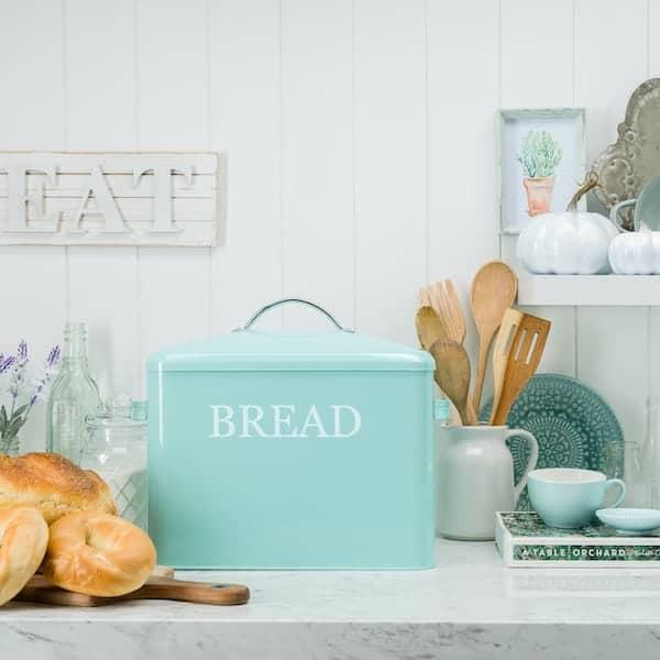 Pennsylvania Large Farmhouse Bread Box Turquoise 7