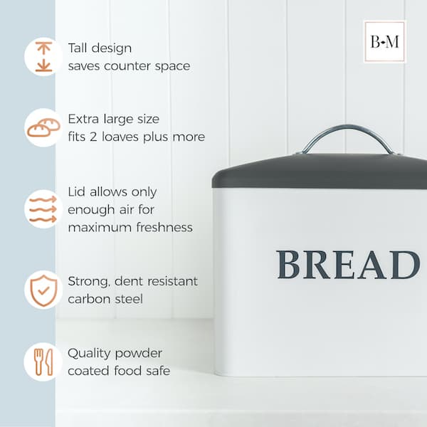 Kennedy Extra Large Farmhouse Bread Box 5