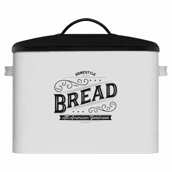 Kentucky Large White Farmhouse Bread Box 1