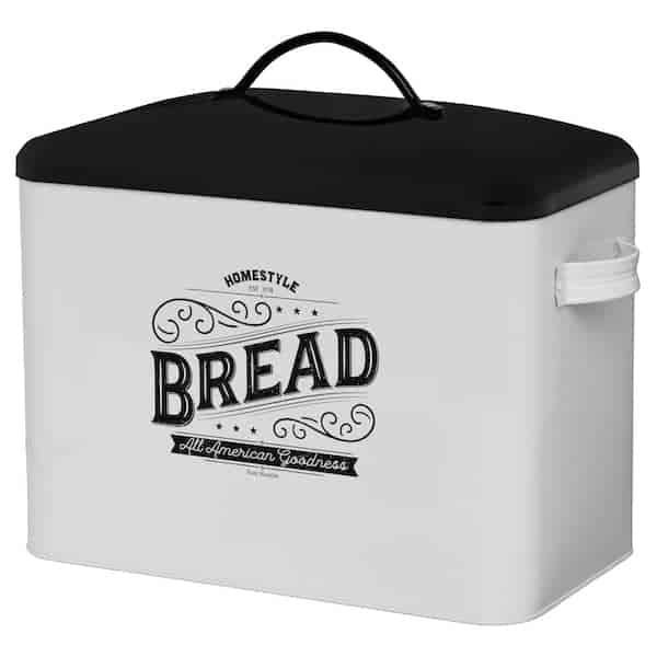 Kentucky Large White Farmhouse Bread Box 2