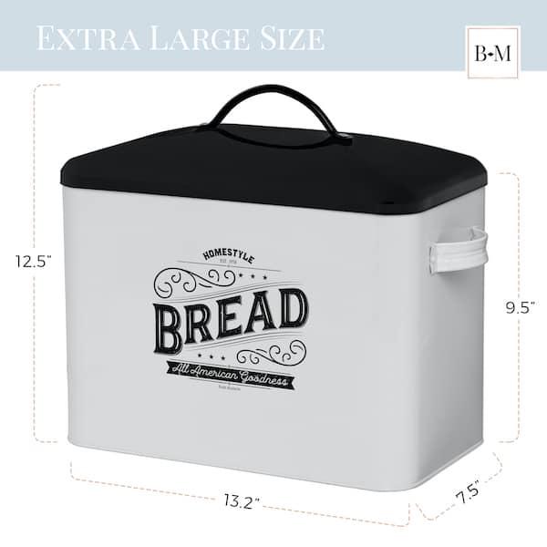 Kentucky Large White Farmhouse Bread Box 3