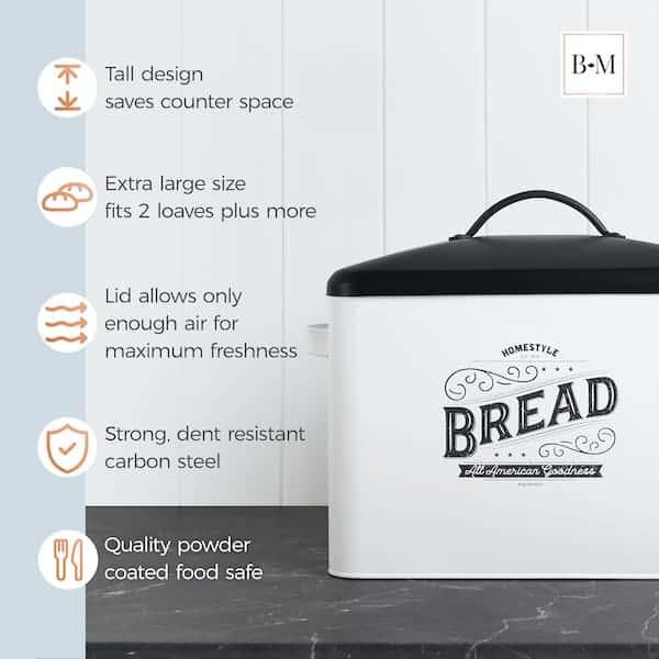 Kentucky Large White Farmhouse Bread Box 5