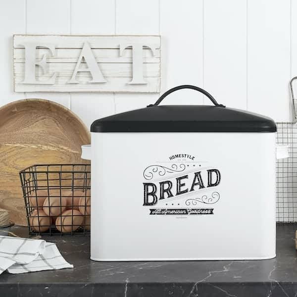 Kentucky Large White Farmhouse Bread Box 6
