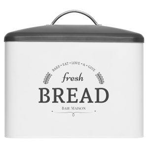 Boston Large Farmhouse Bread Box White 1