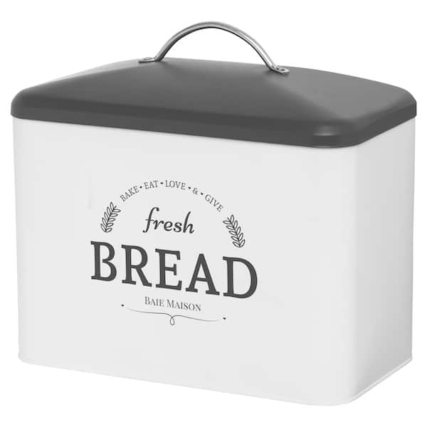 Boston Large Farmhouse Bread Box White 2