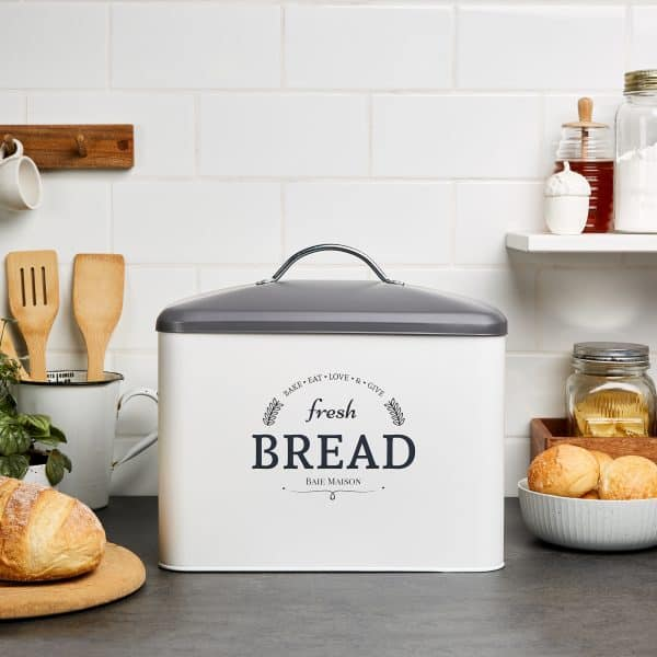 Boston Large Farmhouse Bread Box White 6