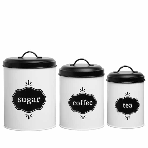 Charlotte Country Farmhouse White Canister Set 1