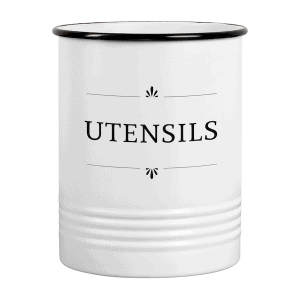 Georgia White Farmhouse Utensil Holder for Kitchen Counter 1a
