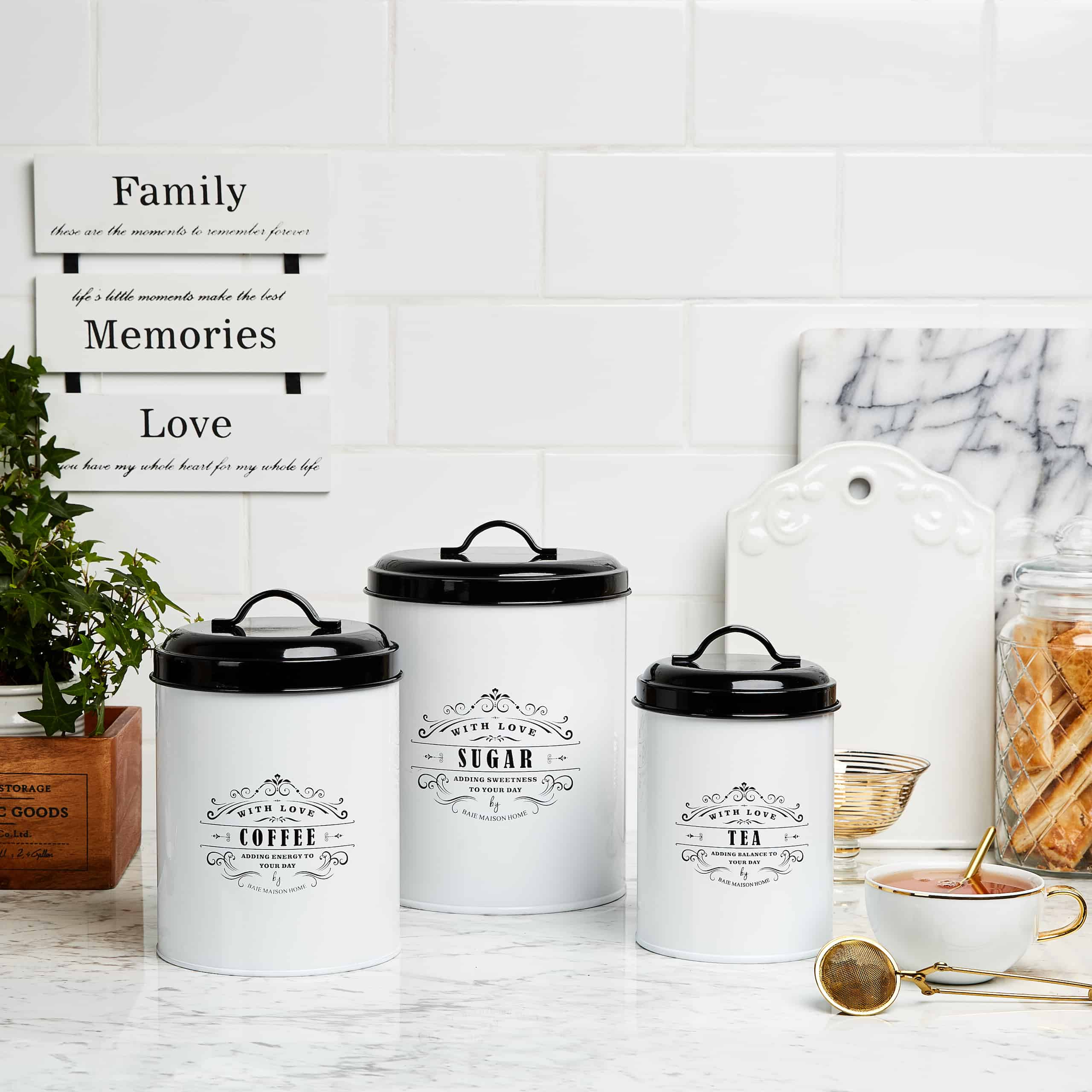 Provence Farmhouse Kitchen Canister Set 6